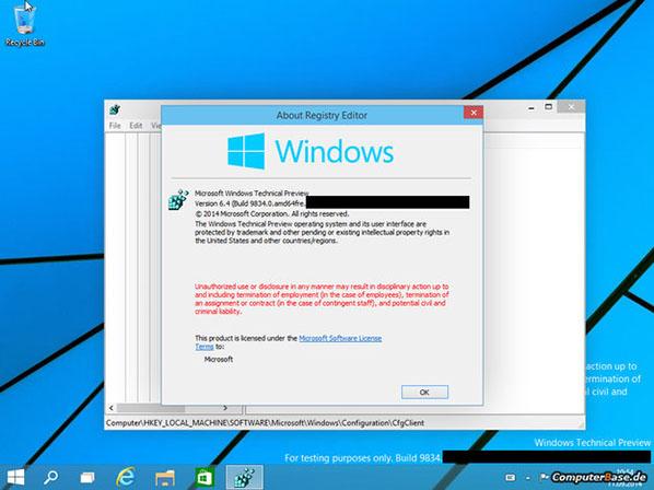 En attendant la préversion publique, voici quelques images de Windows 9