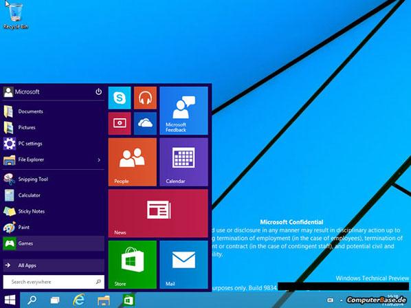 La mise à jour de Windows 8 à Windows 9 sera gratuite