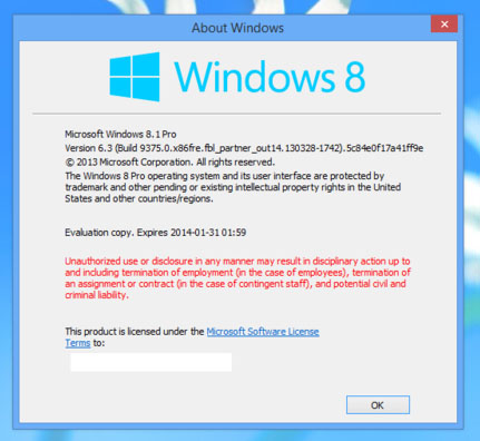 Le successeur de Windows 8 sera ….. Windows 8.1 !