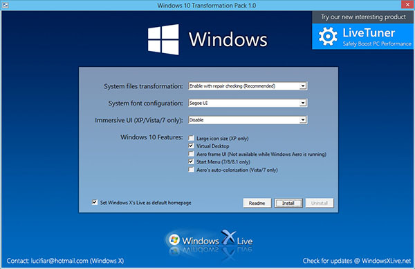 Astuce : customiser Windows XP, Vista, 7 ou 8.1 pour le faire ressembler à Windows 10