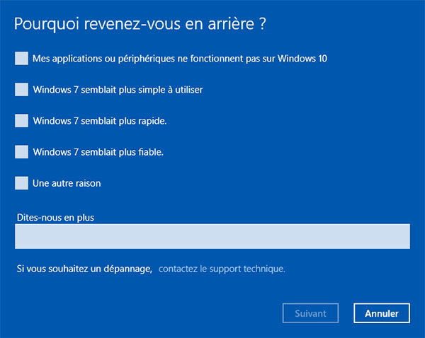 Comment rétrograder rapidement de Windows 10 à Windows 7 / 8 ?