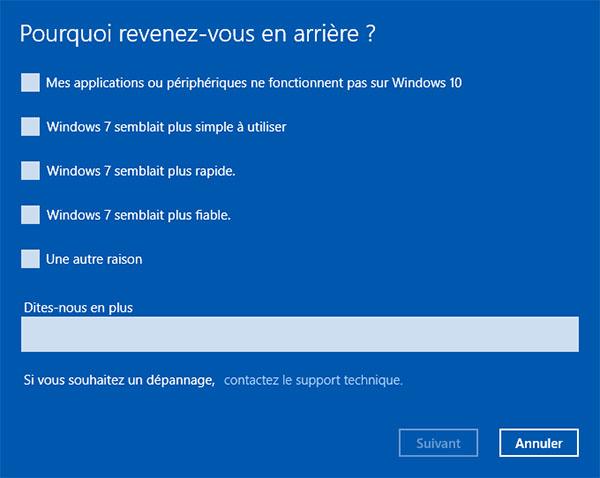 Comment rétrograder rapidement de Windows 10 à Windows 7 / 8 ?