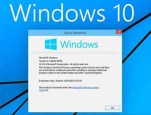 Microsoft publie une nouvelle version (9879) de Windows 10 Technical Preview