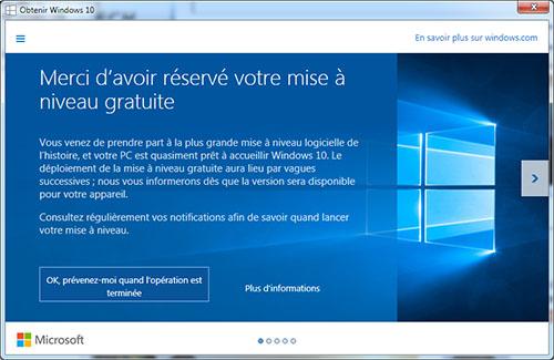Deux astuces pour lancer immédiatement la mise à jour gratuite de Windows 10