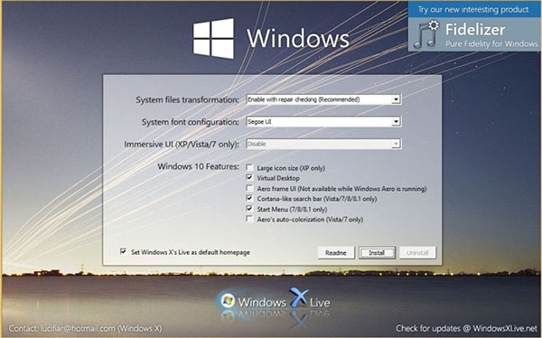 transformer visuellement windows xp en vista ou os x