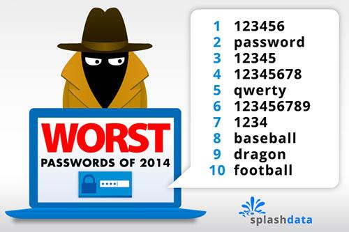 Le TOP 25 des pires mots de passe utilisés sur le net