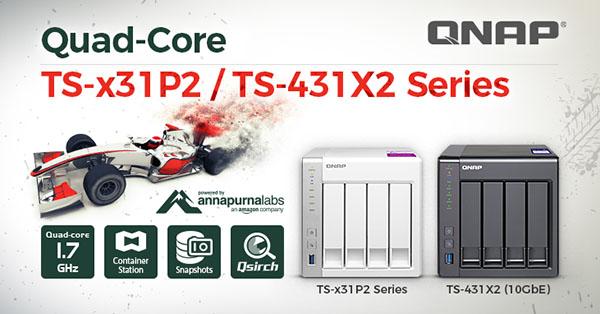 Le fabricant QNAP lance trois nouveaux NAS : le TS-231P2, le TS-431P2 et le TS-431X2