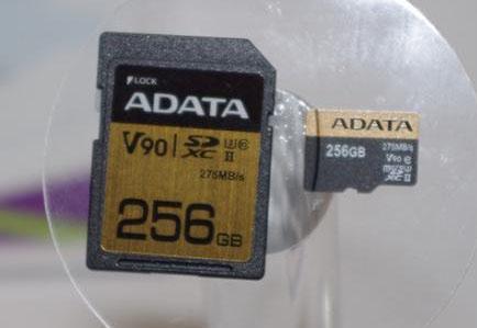 Une carte mémoire micro SDXC (UHS-II) de 256 Go très rapide chez ADATA