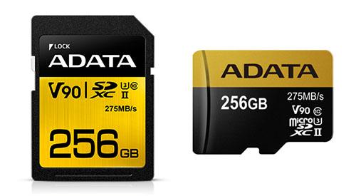 Des taux de transferts de 290 Mo/s pour les nouvelles SDXC / micro SDXC d'ADATA