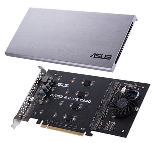 ASUS lance la carte d'extension Hyper M.2 SSD X16 pour brancher 4 SSD M.2. à votre PC