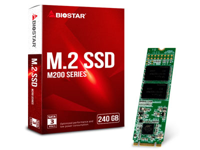 Biostar dégaine une nouvelle famille de SSD : les M200 Series au format M.2.