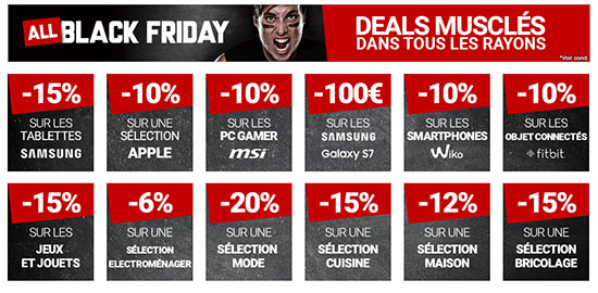 Black Friday : le plein de promos chez RueDuCommerce !