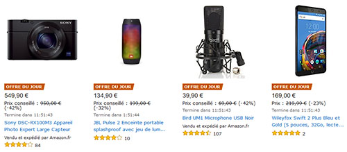 Bons Plans : les offres du jour sur Amazon.fr (29-11-2016)
