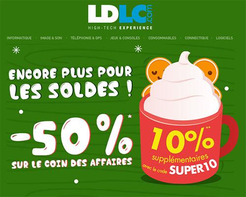 Bons Plans : 60% de remise sur le coin des affaires de LDLC