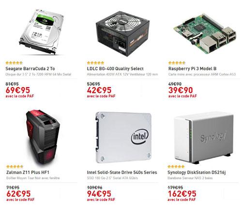 Bons Plans : un HDD, un SSD, un NAS, une alim, un boitier et un Raspberry Pi en promos chez LDLC