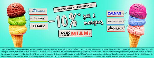 Bons Plans : LDLC offre 10% de remise sur les marques Zalman, G-LAB, Corsair, Seasonic, Synology et D-Link.