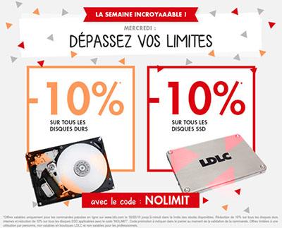 Bon Plan : LDLC offre aujourd'hui 10% de remise sur les SSD et les HDD