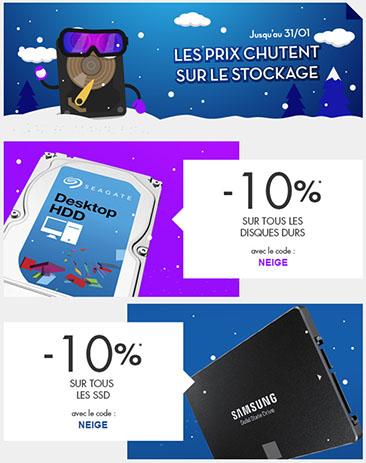 Bon Plan : 10% de réduction sur les SSD et les disques durs vendus chez LDLC !