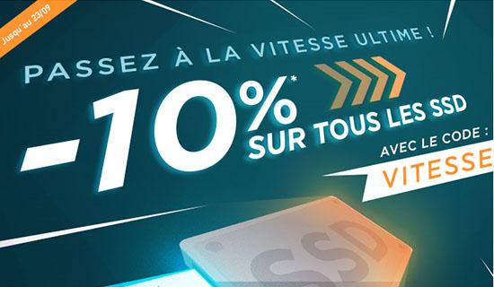 Bon Plan : 10% de remise sur tous les SSD vendus chez LDLC !
