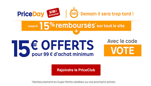 Bons Plans : 15 euros de réduction chez Priceminister
