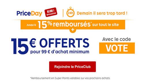 Bons Plans : 15 euros de réduction chez Priceminister