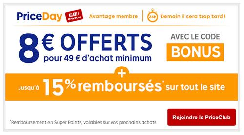 Bons Plans : 8 euros de remise sur tout le site Priceminister