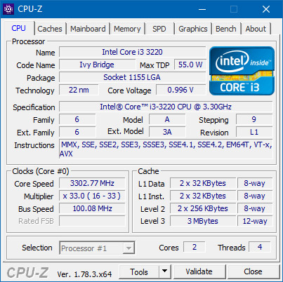 Le programme CPU-Z est disponible en version 1.83