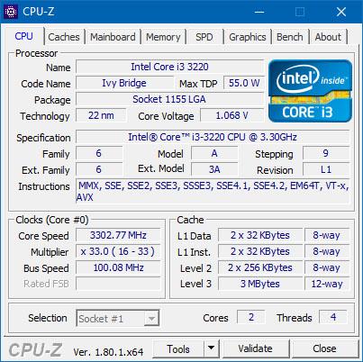 Sortie des programmes HWMonitor 1.32 et CPU-Z 1.80.1