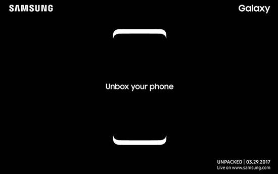 Samsung invite la presse à une conférence le 29 mars pour présenter le Galaxy S8