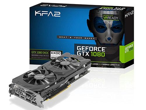 Soldes : 499€ la carte graphique KFA2 GeForce GTX 1080 EXOC de 8 Go
