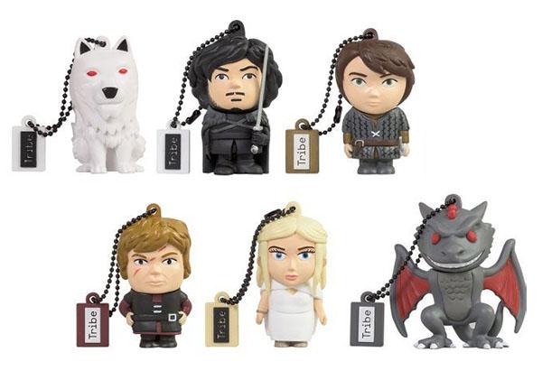 Des clés usb à l'effigie des personnages de Game of Thrones pour les fans de la série télévisée