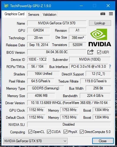 GPU-Z est disponible en version 1.12.0