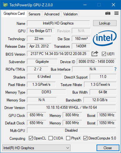 GPU-Z est dispo en version 2.16.0