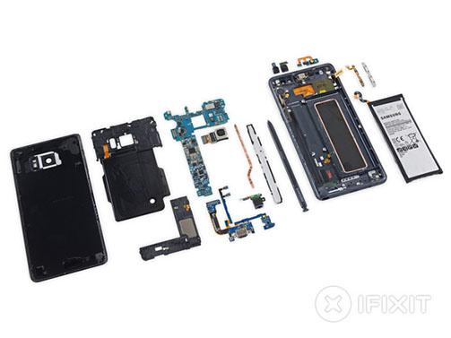 iFixit démonte le Galaxy Note 7 et lui attribue un 4 sur 10