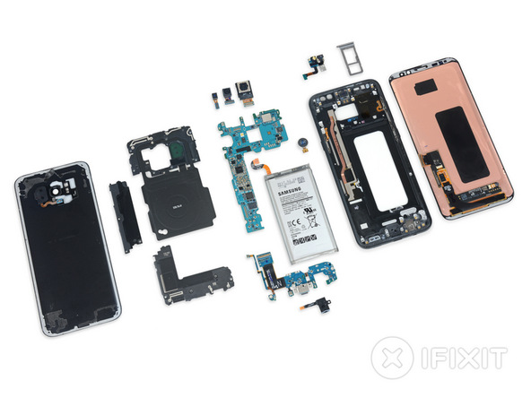 Difficile à démonter, le Galaxy S8 obtient une note de 4 sur 10 par iFixit