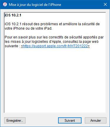 Apple publie iOS 10.2.1 pour ses appareils mobiles