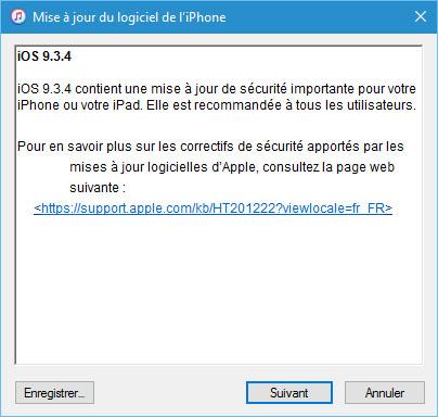 iOS 9.3.4 est disponible pour iPhone, iPad et iPod Touch