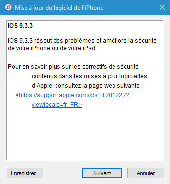 La version 9.3.3 d'iOS est disponible !