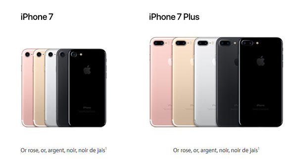 Apple officialise l'iPhone 7 et l'iPhone 7 Plus
