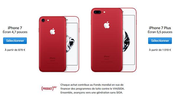 Apple annonce des iPhone 7 / 7 Plus RED et de nouveaux iPhone SE
