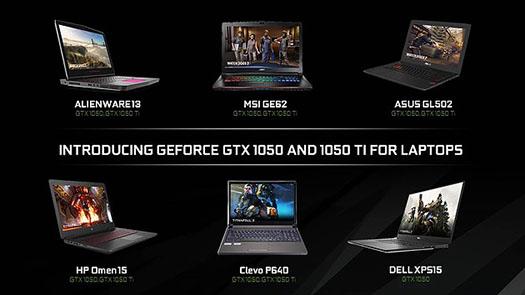 CES 2017 : NVIDIA lance ses nouveaux GPU mobiles GeForce GTX 1050 et GTX 1050 Ti