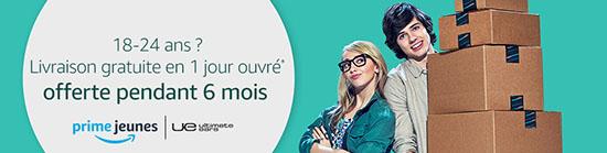 Bon Plan : Amazon.fr offre l'abonnement Prime Jeunes pendant 6 mois au moins de 24 ans