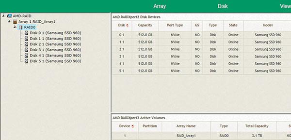 AMD active le support du RAID NVMe sur les plateformes X399