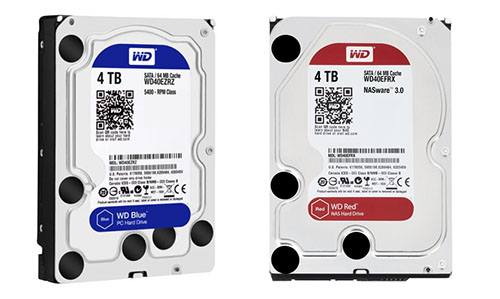 Soldes : le WD Blue 4 To à 121€ et le WD Red de 4 To à 142€