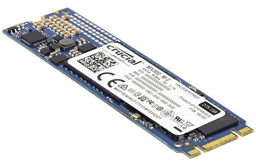 Soldes : 92,60 euros le SSD Crucial MX300 de 275 Go au format M.2.
