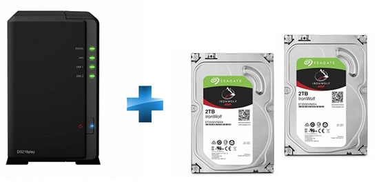 Bon Plan : un NAS Synology DS216Play + 2 HDD de 2 To à 299,99 euros