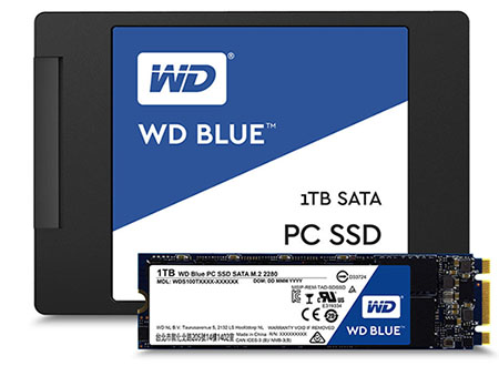 Western Digital propose maintenant les SSD WD Blue et les SSD WD Green