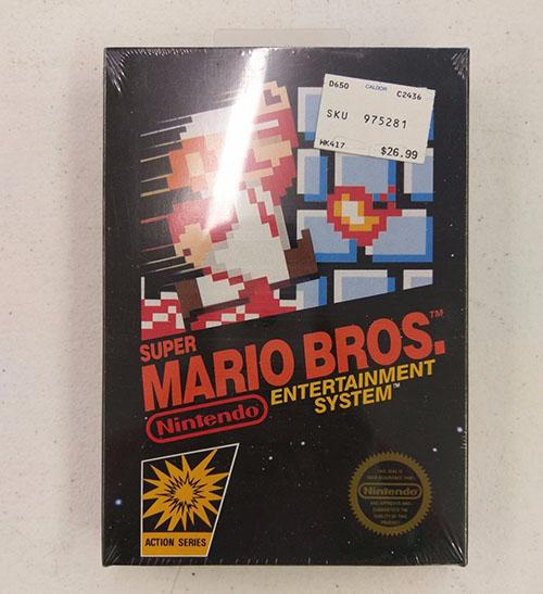 Le jeu Super Mario Bros (encore sous blister) s'est vendu à plus de 30.000 dollars