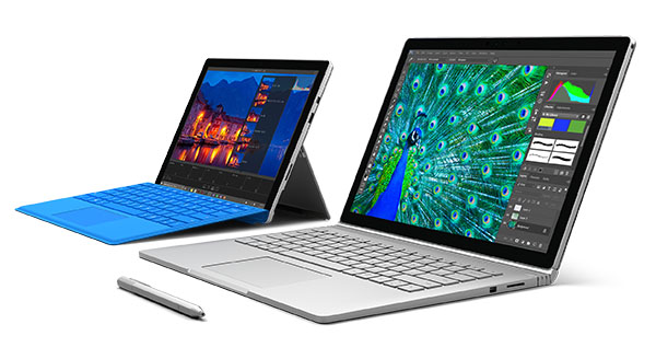 Microsoft booste les Surface Book et Surface Pro 4 : Core i7, 16 Go de RAM et SSD de 1 To