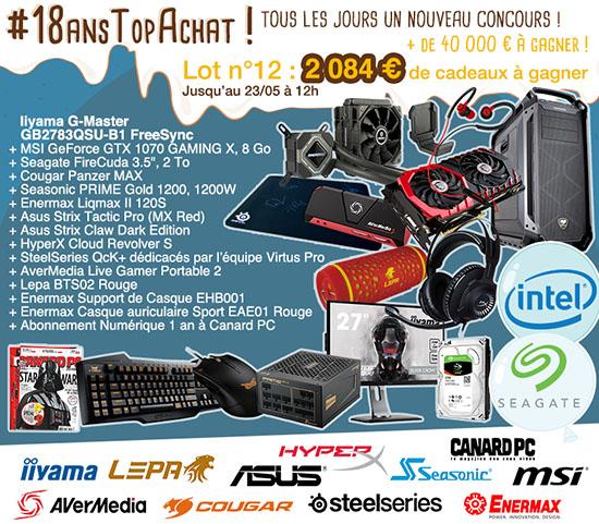 Jeu concours : 2.000 euros de matériel à gagner pour les 18 ans de TopAchat